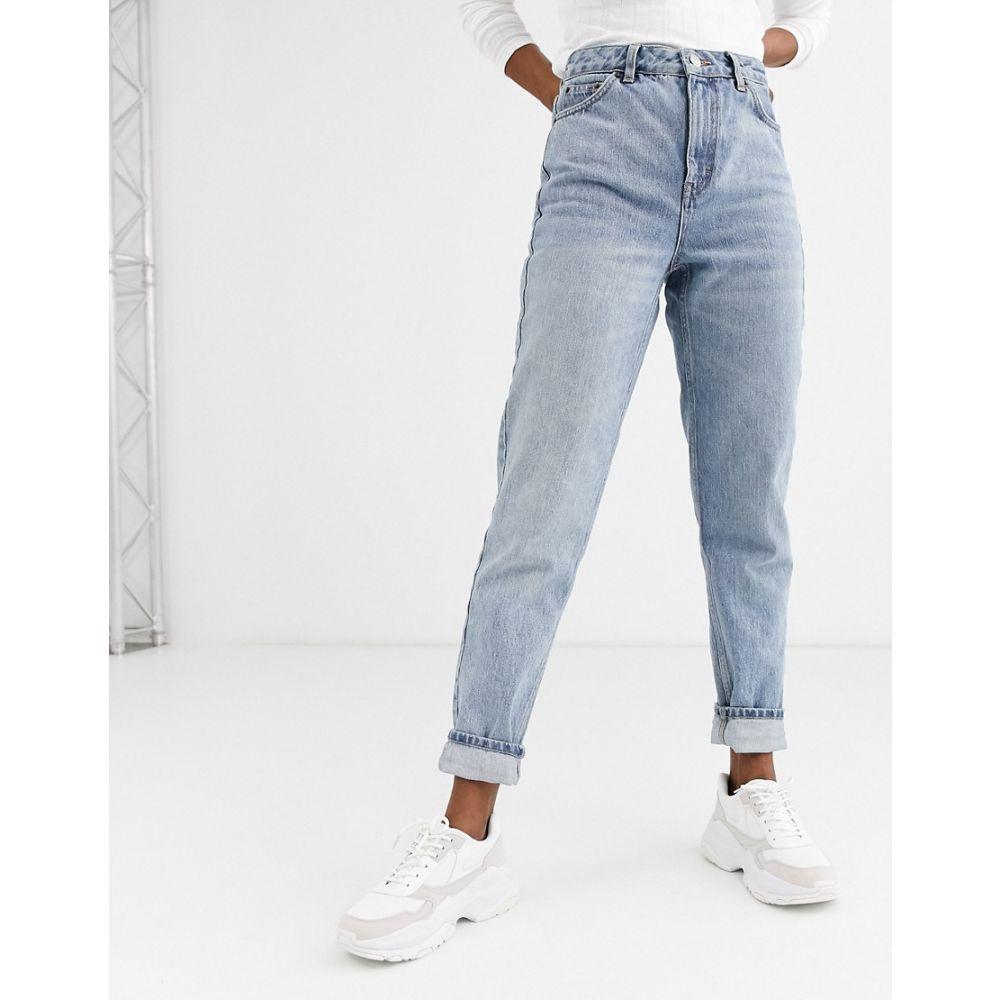 トップショップ Topshop レディース ジーンズ・デニム ボトムス・パンツ【mom jeans in bleach wash】Bleach