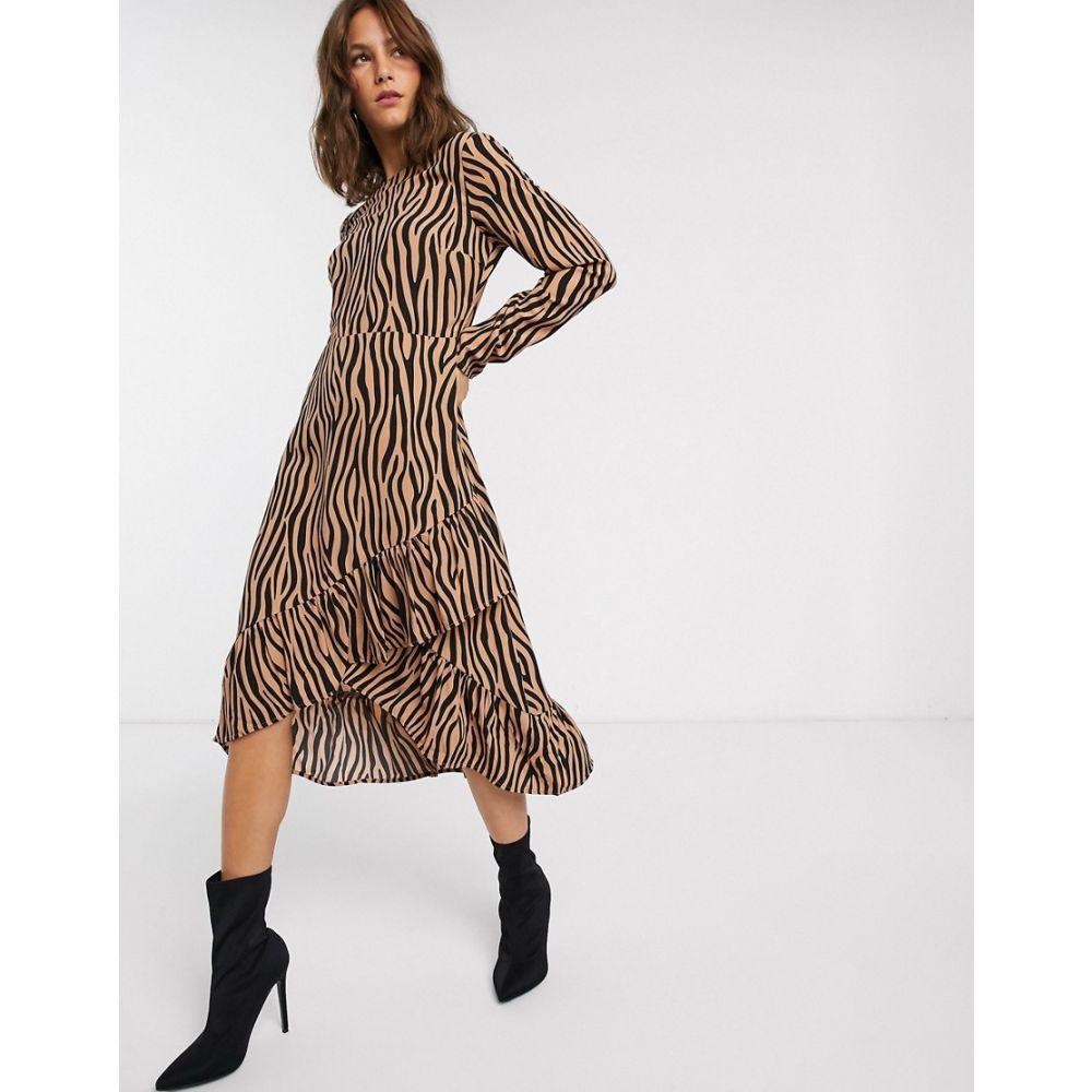 ヴィラ Vila レディース ワンピース ワンピース・ドレス【zebra print ruffle skirt midi dress】Zebra print