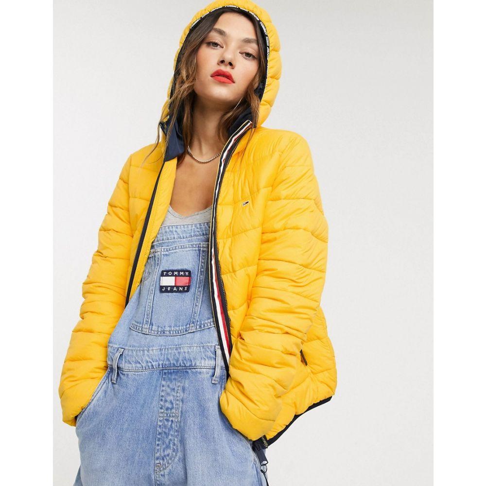 トミー ジーンズ Tommy Jeans レディース ダウン・中綿ジャケット アウター【quilt detail padded jacket】Spectra yellow