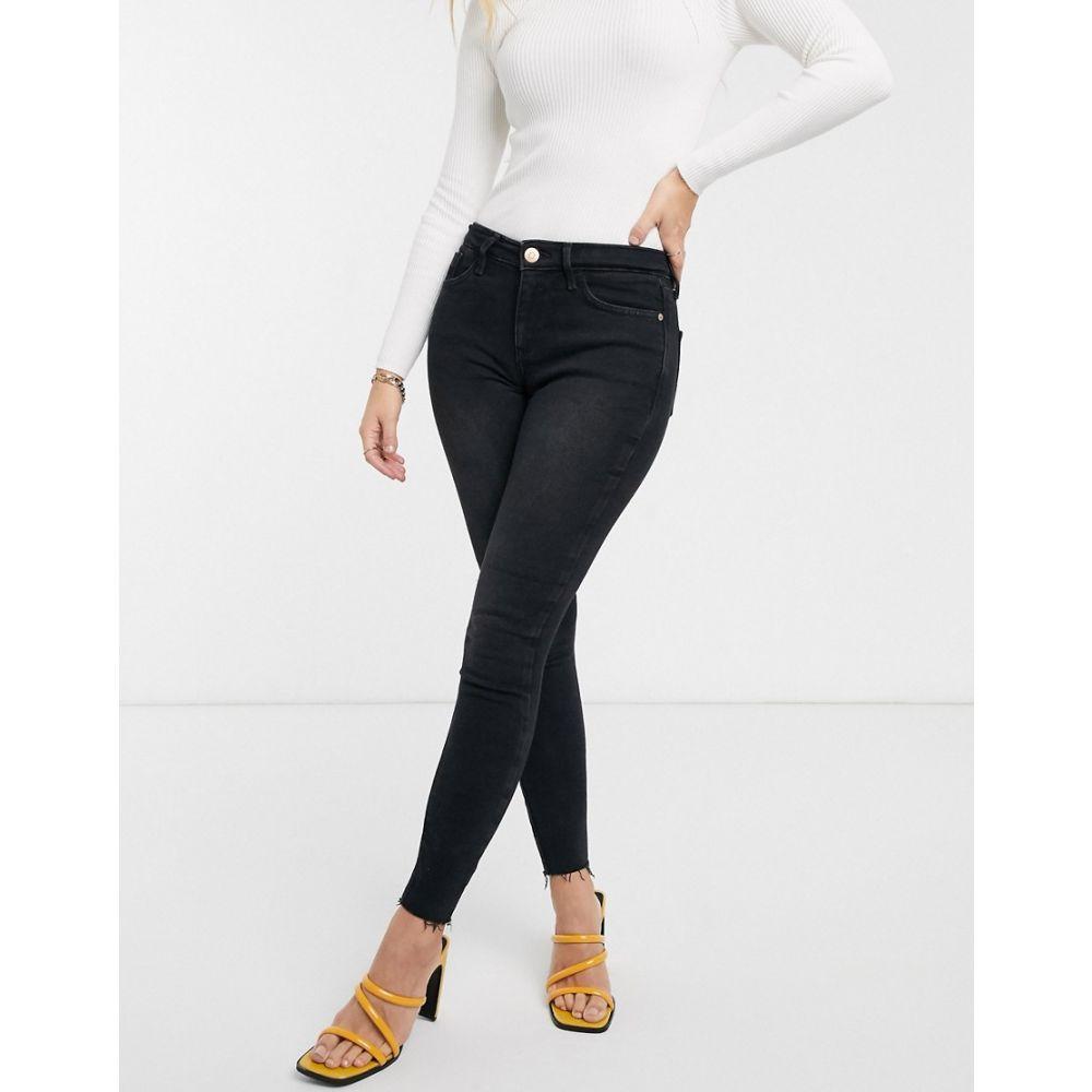 リバーアイランド River Island レディース ジーンズ・デニム ボトムス・パンツ【Amelie skinny jeans in washed black】Black