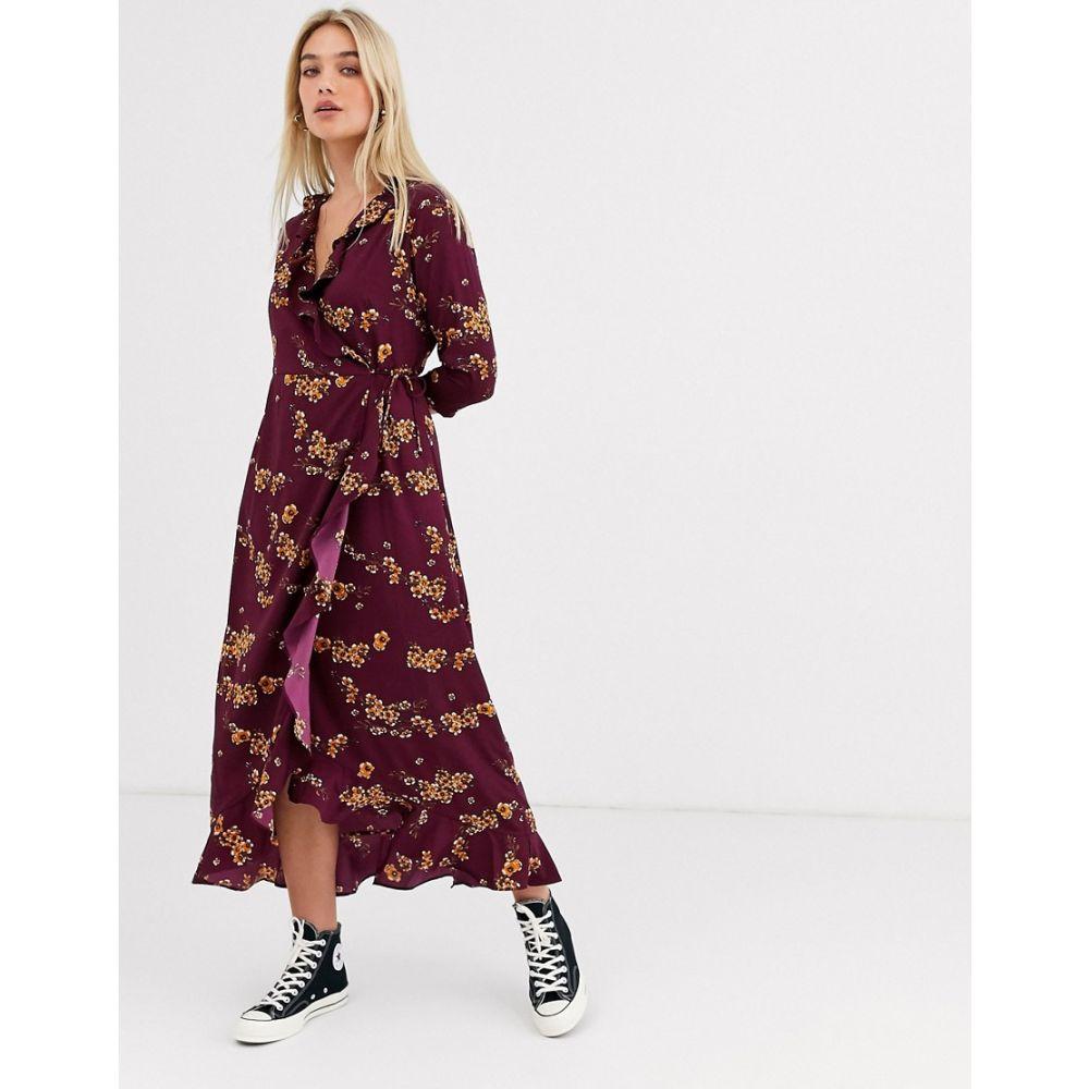 ヴェロモーダ Vero Moda レディース ワンピース ラップドレス ワンピース・ドレス【floral ruffle wrap dress】Floral