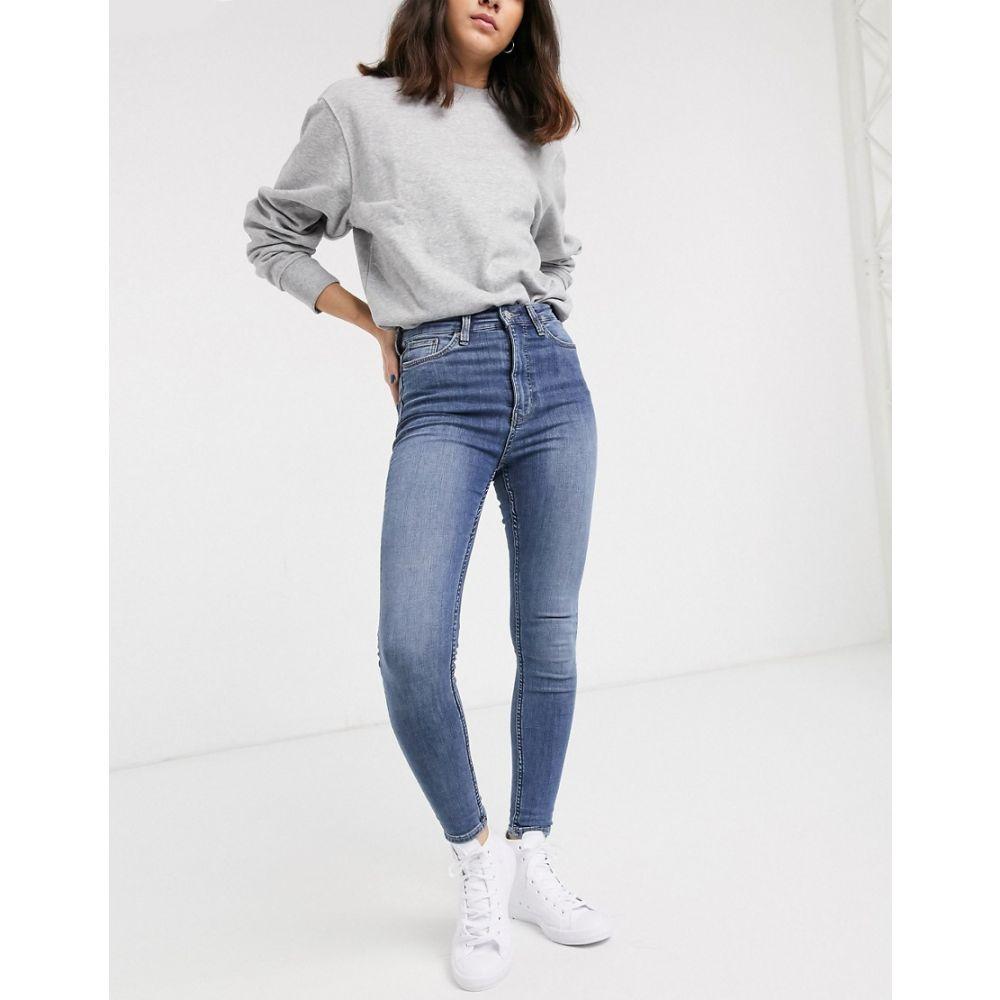 ウィークデイ Weekday レディース ジーンズ・デニム ボトムス・パンツ【Body High skinny jeans】Dusty lgt peer blue