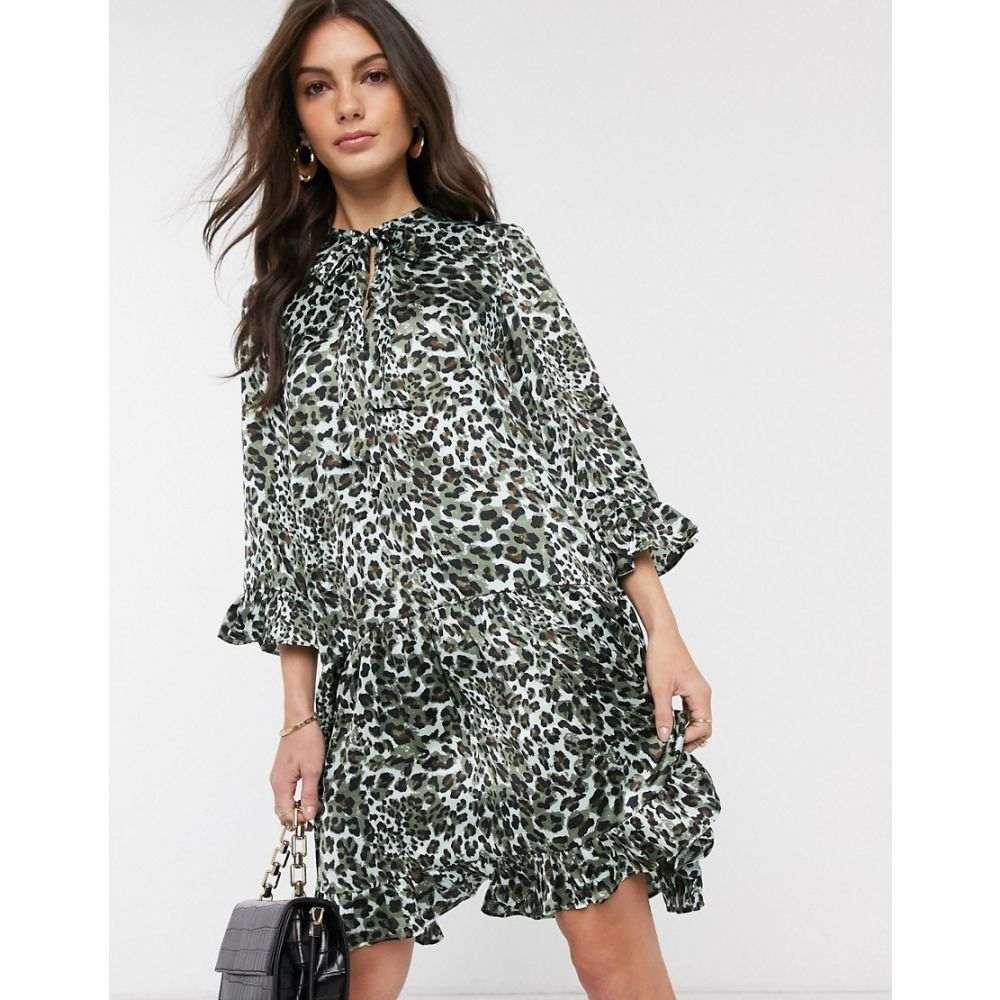 ワイ エー エス Y.A.S レディース ワンピース ワンピース・ドレス【animal print smock dress】Multi