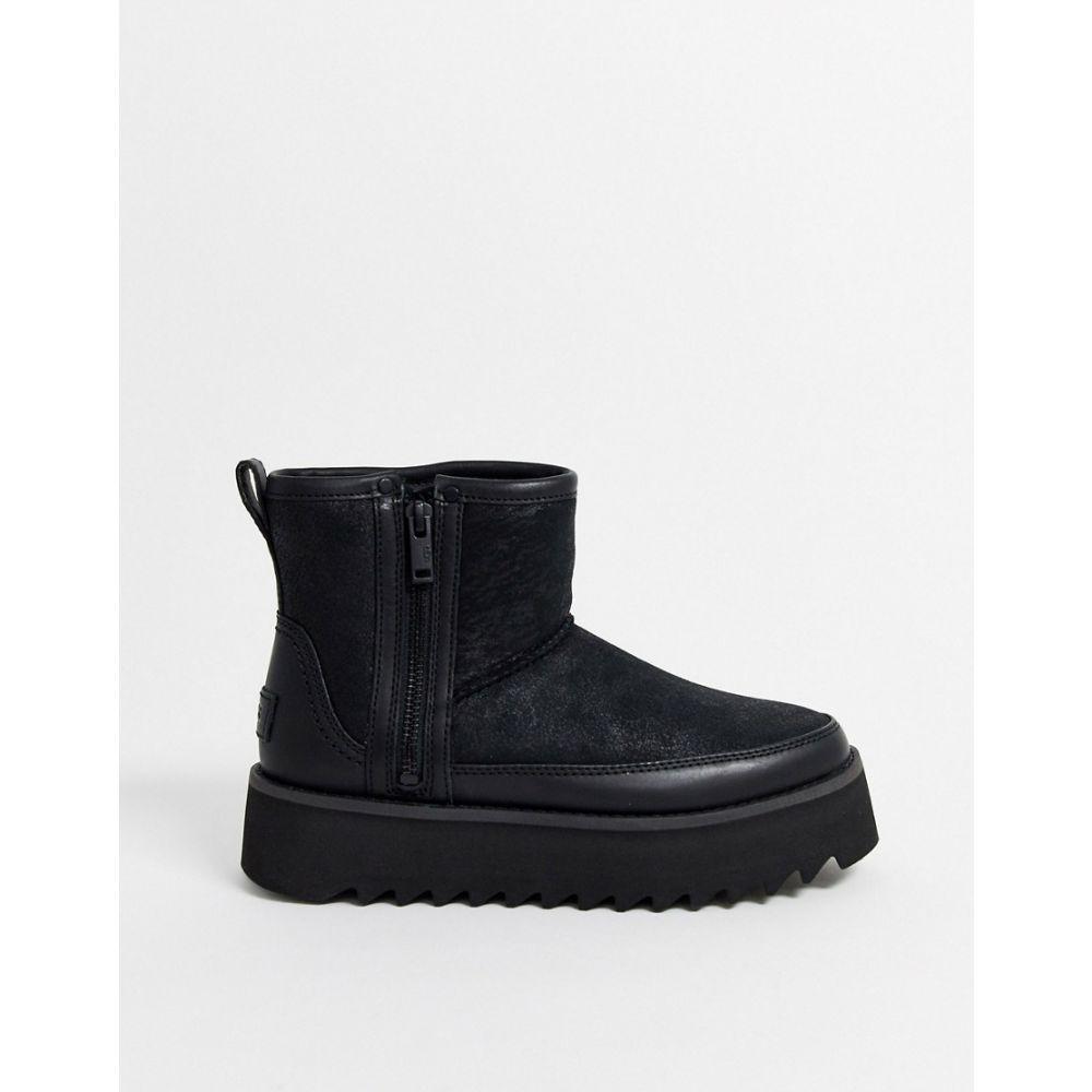 アグ UGG レディース ブーツ ショートブーツ シューズ・靴【Rebel biker mini ankle boots in black】Black