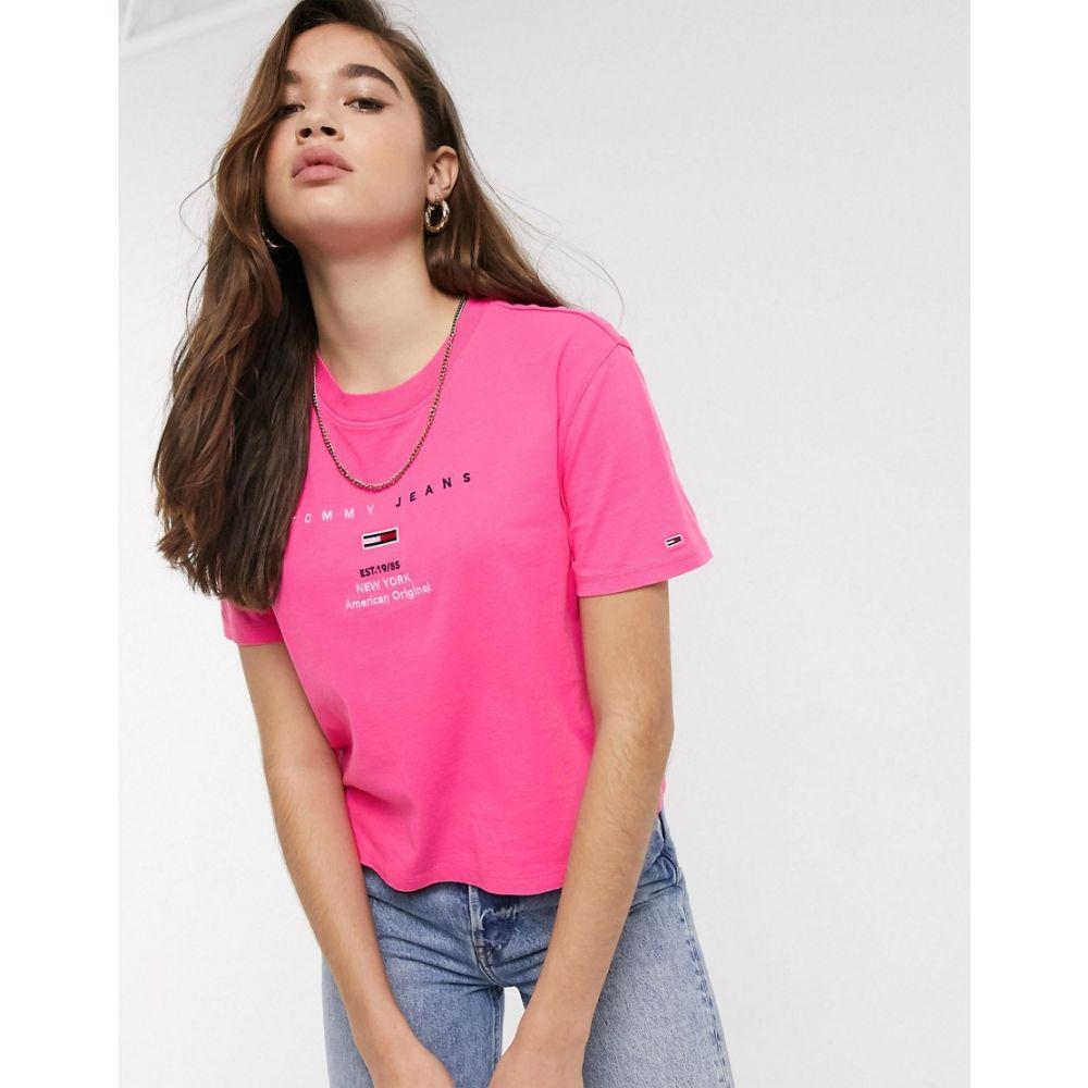 トミー ジーンズ Tommy Jeans レディース Tシャツ トップス【organic cotton smaller logo t-shirt】Pink glo