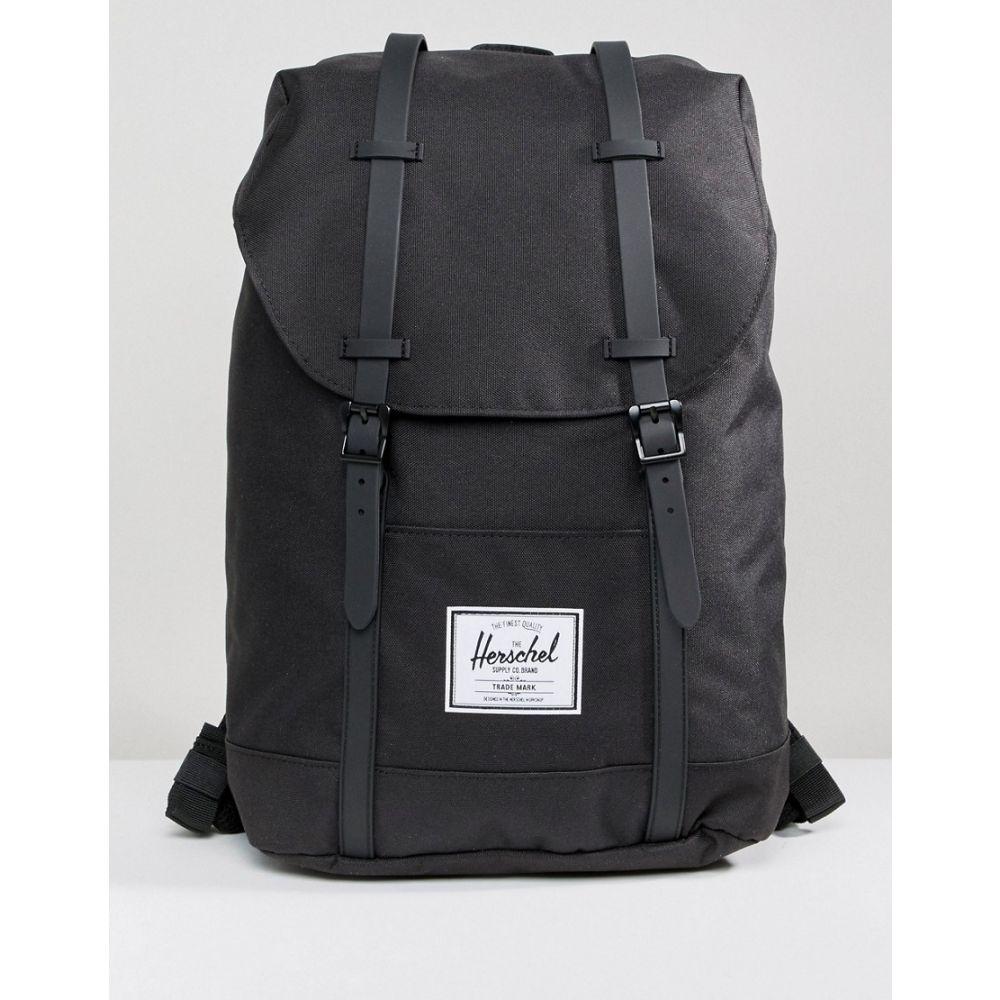 ハーシェル サプライ Herschel Supply Co メンズ バックパック・リュック バッグ【Retreat backpack in black with rubberised straps】Black