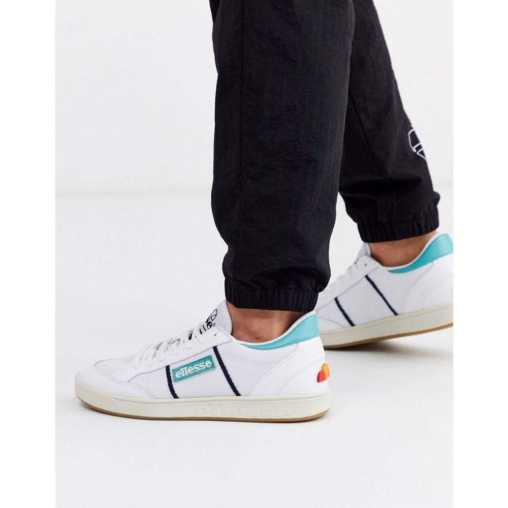 エレッセ ellesse メンズ スニーカー シューズ・靴【Ellesse LS-80 leather trainer in blue】White