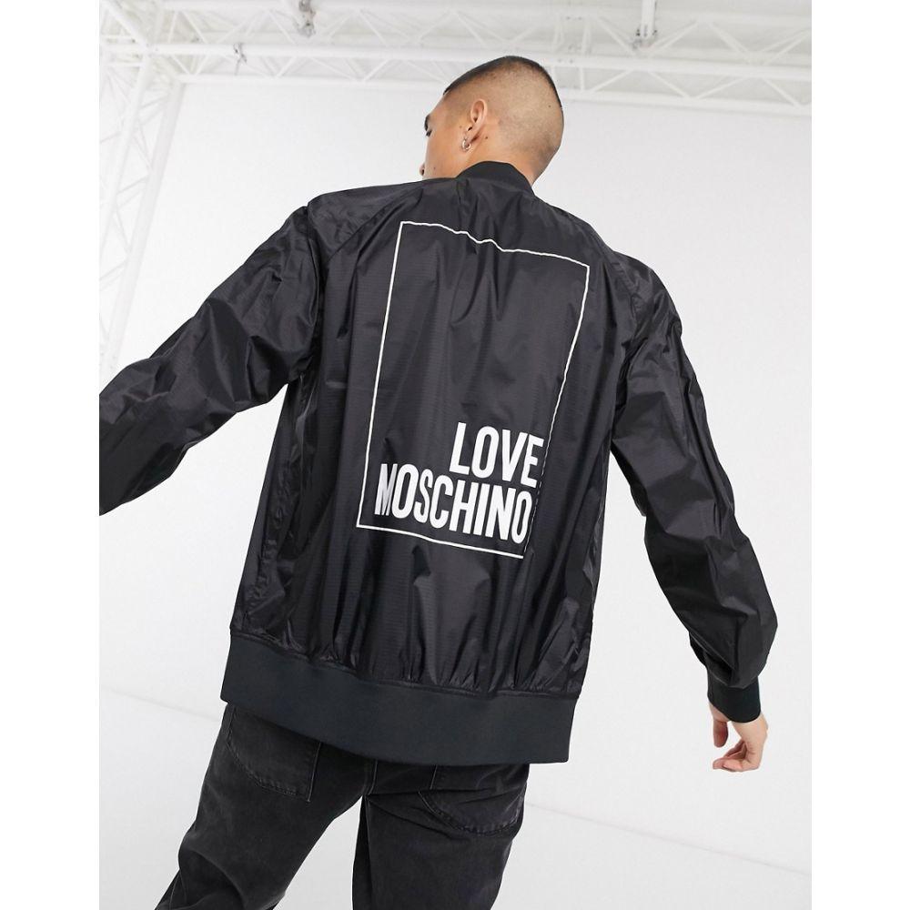 モスキーノ Love Moschino メンズ ジャケット コーチジャケット アウター【box logo coach jacket】Black