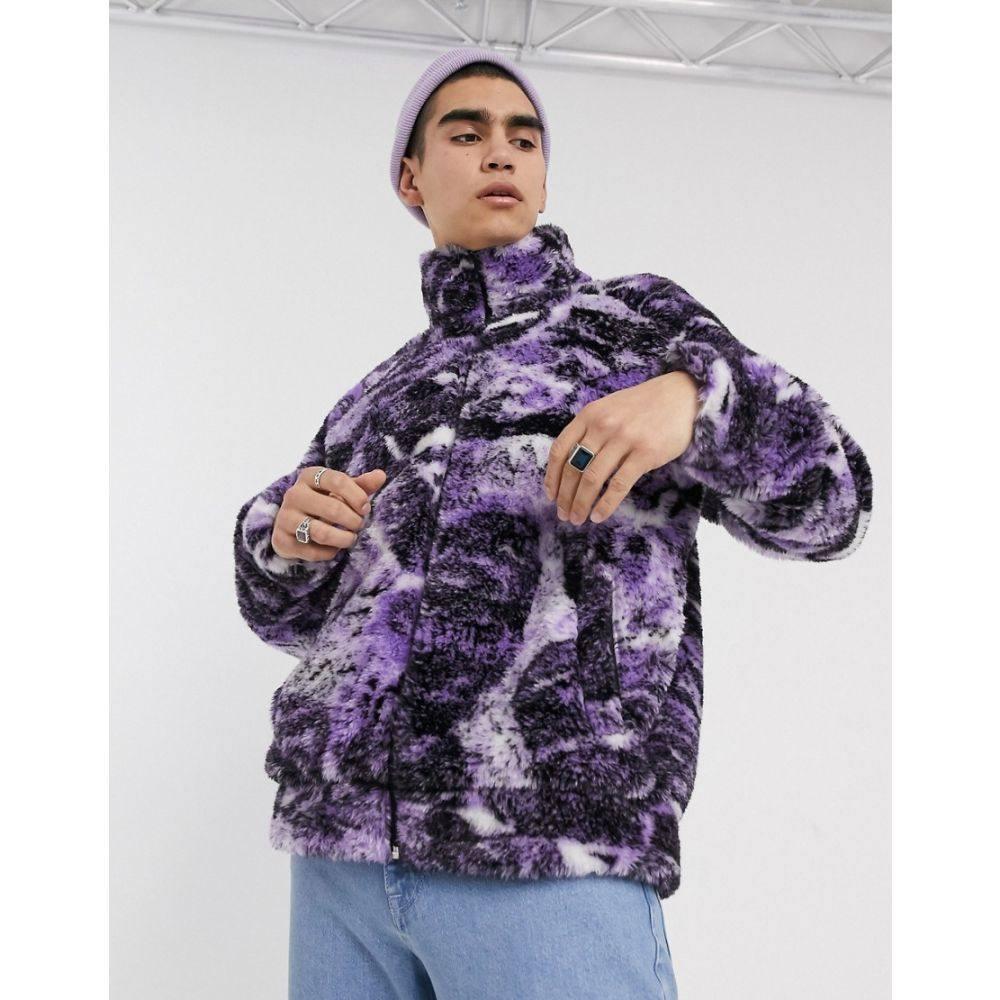 ジェイディッド ロンドン Jaded London メンズ ジャケット アウター【Jaded purple psychedelic collage borg jacket】Purple