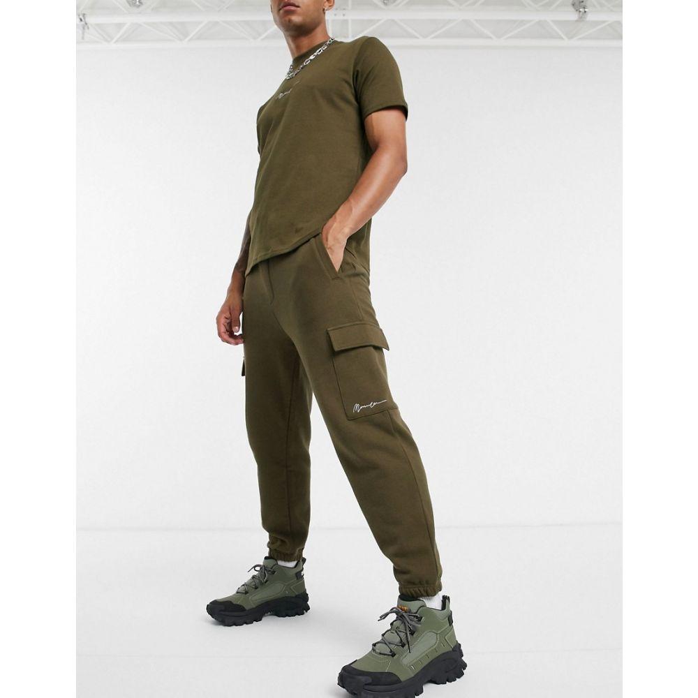 メンナス Mennace メンズ ジョガーパンツ カーゴ ボトムス・パンツ【essential signature cargo jogger in khaki】Khaki