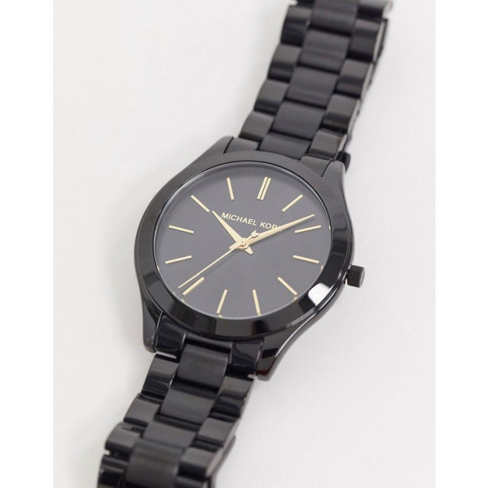 マイケル コース Michael Kors メンズ 腕時計 ブレスレットウォッチ【MK3221 Runway bracelet watch in black】Black