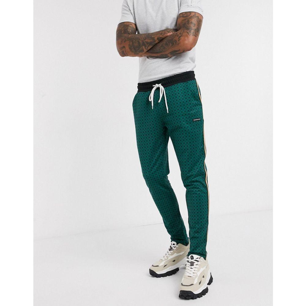 グッドフォーナッシング Good For Nothing メンズ ボトムス・パンツ 【Good for Nothing geo hounds trouser with satin taping in green】Green