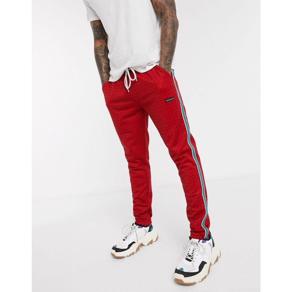 グッドフォーナッシング Good For Nothing メンズ ボトムス・パンツ 【Good for Nothing geo hounds trouser with satin taping in red】Red