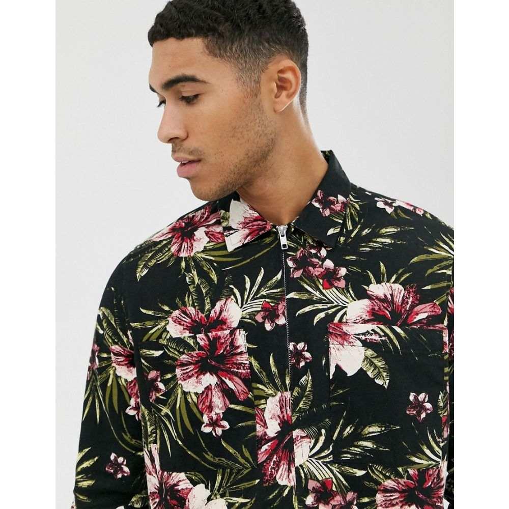ニュールック New Look メンズ シャツ オーバーシャツ トップス【overshirt in printed floral】Multicoloured