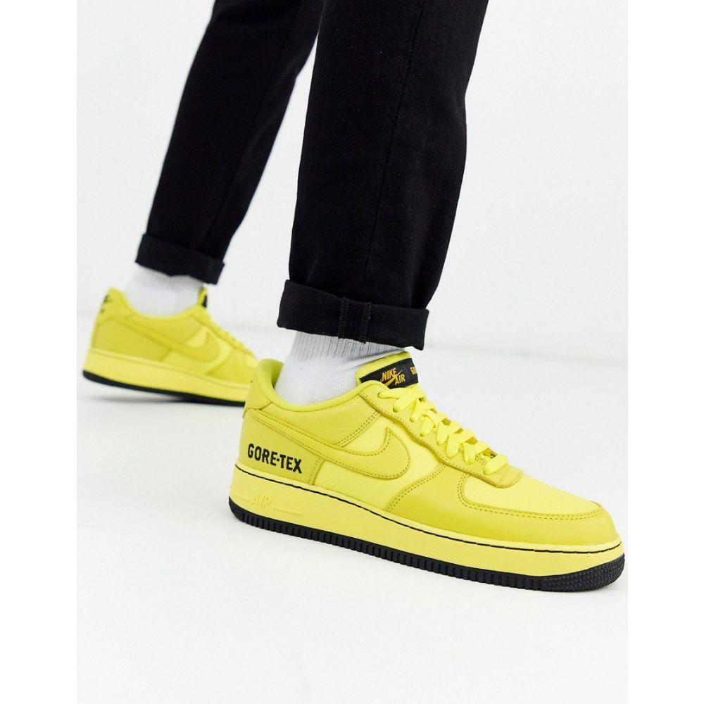 ナイキ Nike メンズ スニーカー エアフォースワン シューズ・靴【Air Force 1 '07 Gore-Tex trainers in yellow CK2630-701】Yellow