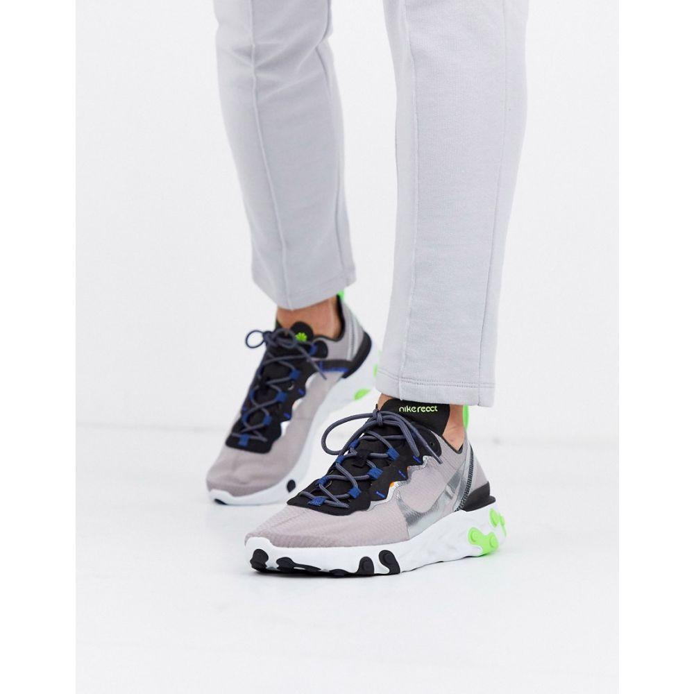 ナイキ Nike メンズ スニーカー シューズ・靴【React Element 55 trainers in grey CI3831-200】Grey