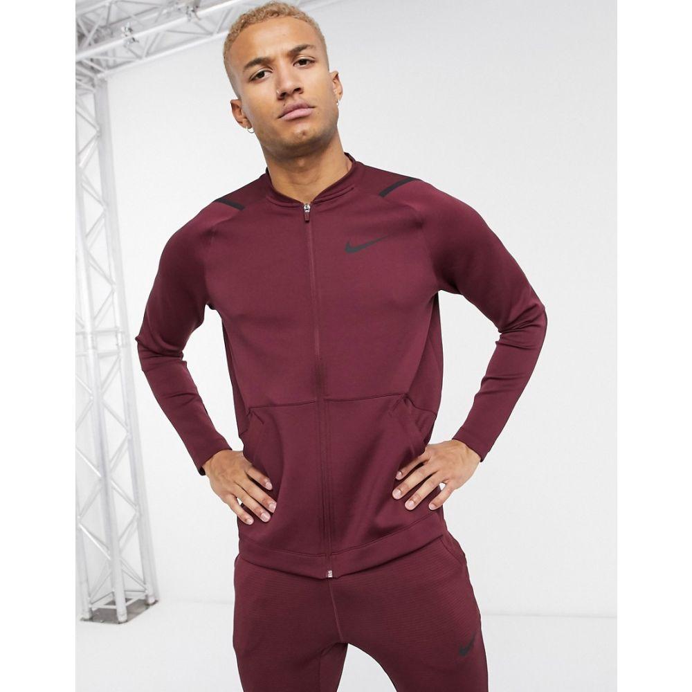 ナイキ Nike Training メンズ ブルゾン ミリタリージャケット アウター【NPC bomber jacket in burgundy】Burgundy
