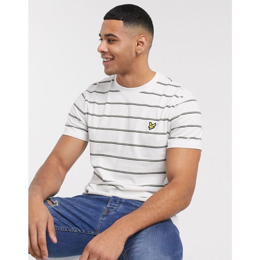 ライル アンド スコット Lyle & Scott メンズ Tシャツ トップス【stripe t-shirt in white】White