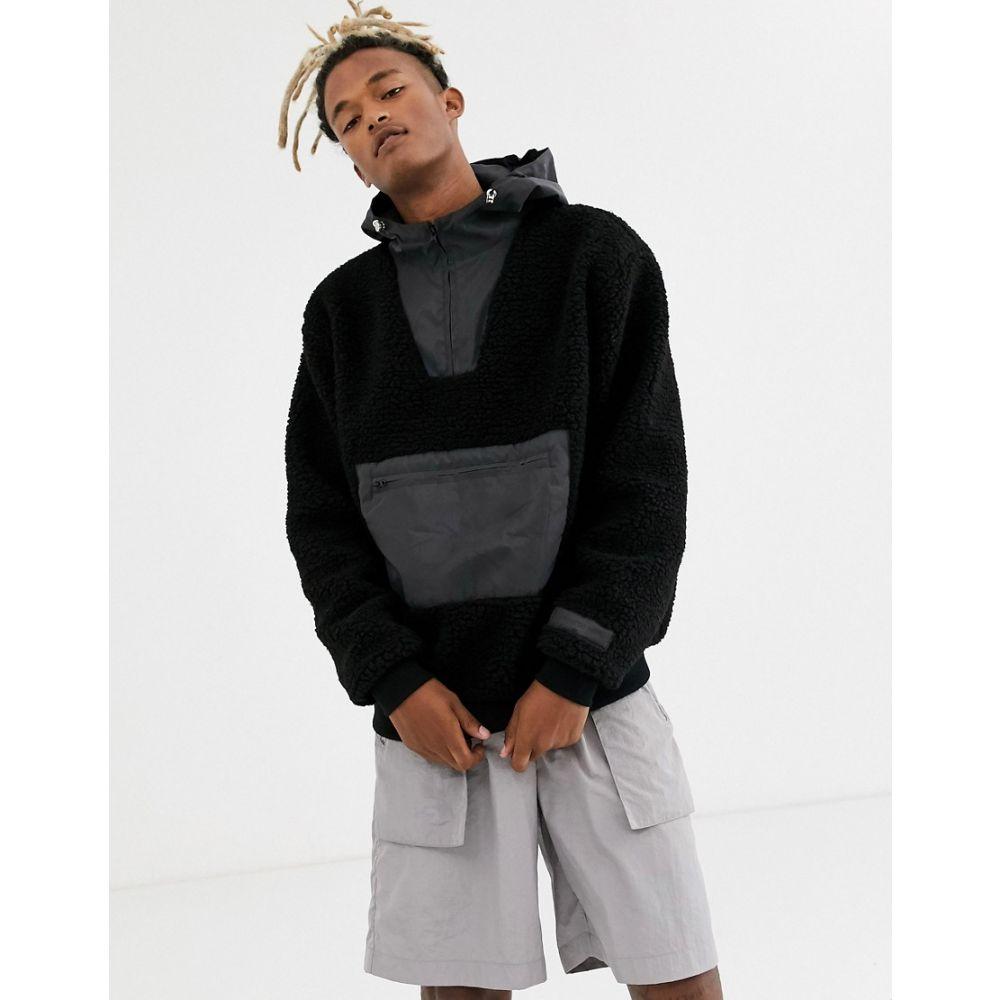 シックススジューン Sixth June メンズ パーカー トップス【reflective borg hoodie in black】Black