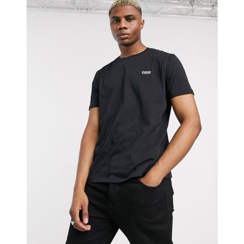 ヒューゴ ボス HUGO メンズ Tシャツ トップス【Dero small chest logo t-shirt in black】Black