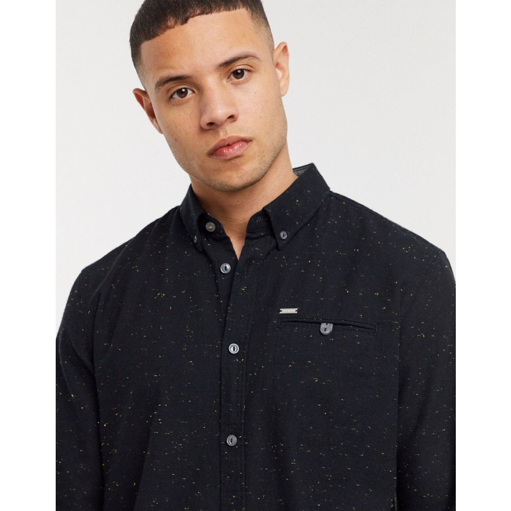 トムテイラー Tom Tailor メンズ シャツ トップス【plain shirt in black】Black
