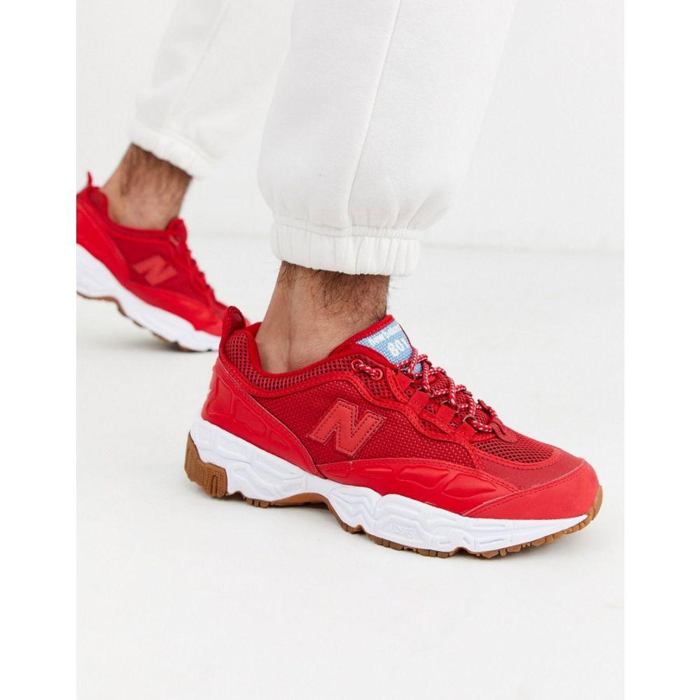 ニューバランス New Balance メンズ スニーカー シューズ・靴【801 trainers in red】Red