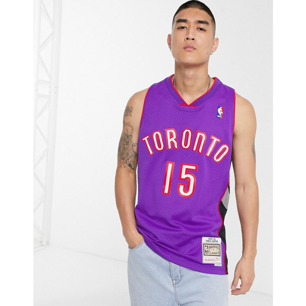 ミッチェル&ネス Mitchell & Ness メンズ タンクトップ トップス【Toronto Raptors Vince Carter 99-00 Swingman jersey in purple】Purple