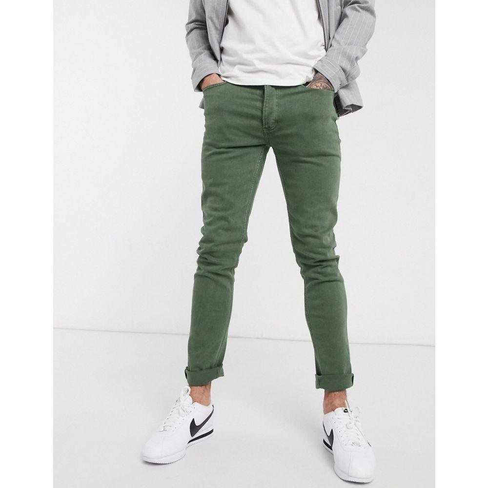 トップマン Topman メンズ ジーンズ・デニム ボトムス・パンツ【skinny jeans in khaki】Khaki