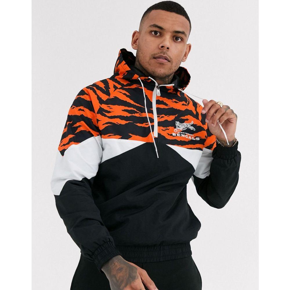 ニューエラ New Era メンズ ジャケット ウィンドブレーカー アウター【NFL Cincinnati Bengals windbreaker jacket in black】Black