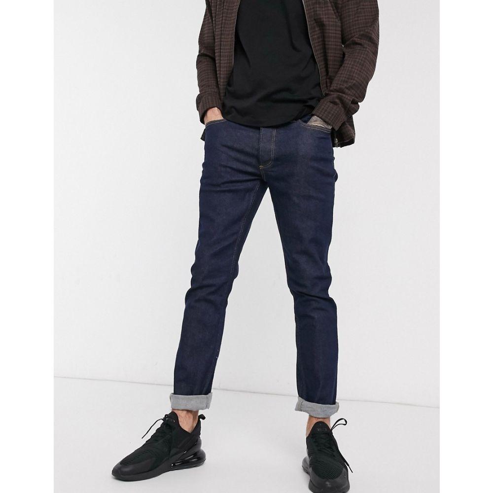 トップマン Topman メンズ ジーンズ・デニム ボトムス・パンツ【slim jeans in raw blue】Blue