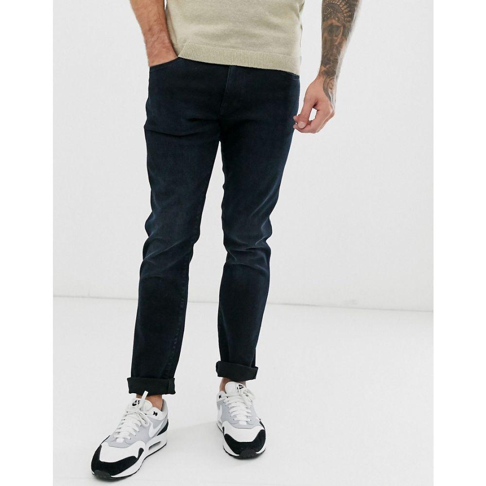 ラングラー Wrangler メンズ ジーンズ・デニム ボトムス・パンツ【Larston slim fit tapered jeans in black】Smashed black