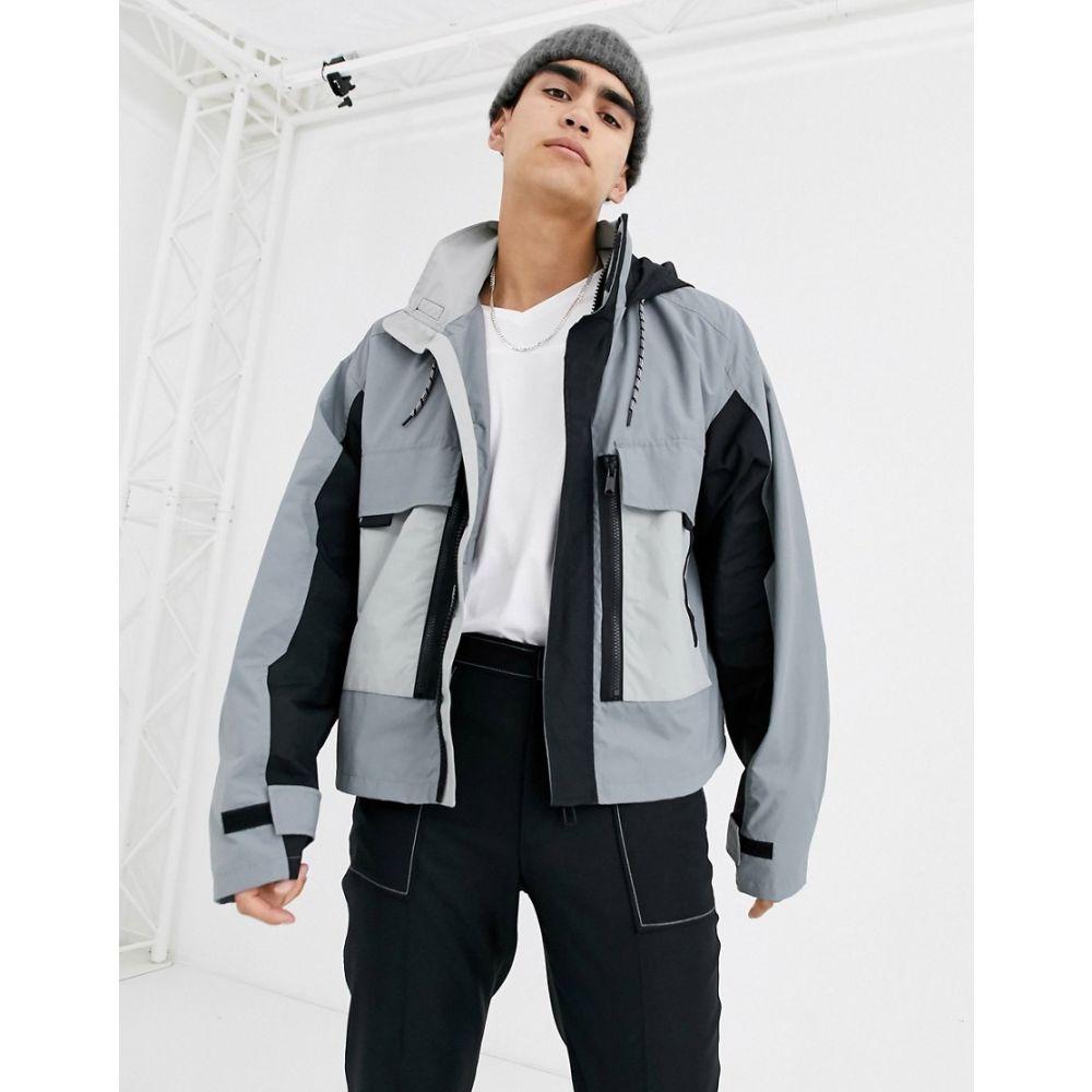 エイソス ASOS DESIGN メンズ ジャケット アウター【jacket with multi pocket in grey】Grey