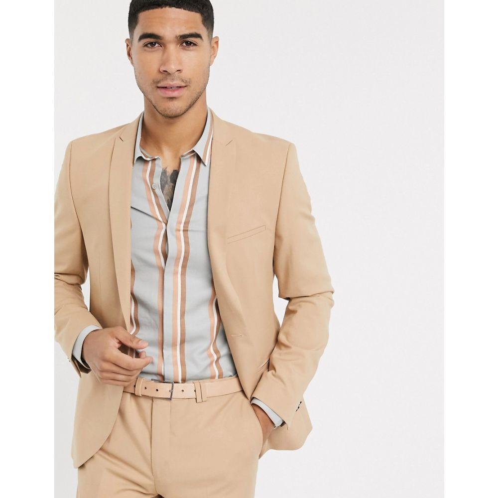 ヴィーゴ Viggo メンズ スーツ・ジャケット アウター【recycled polyester suit jacket in tan】Tan