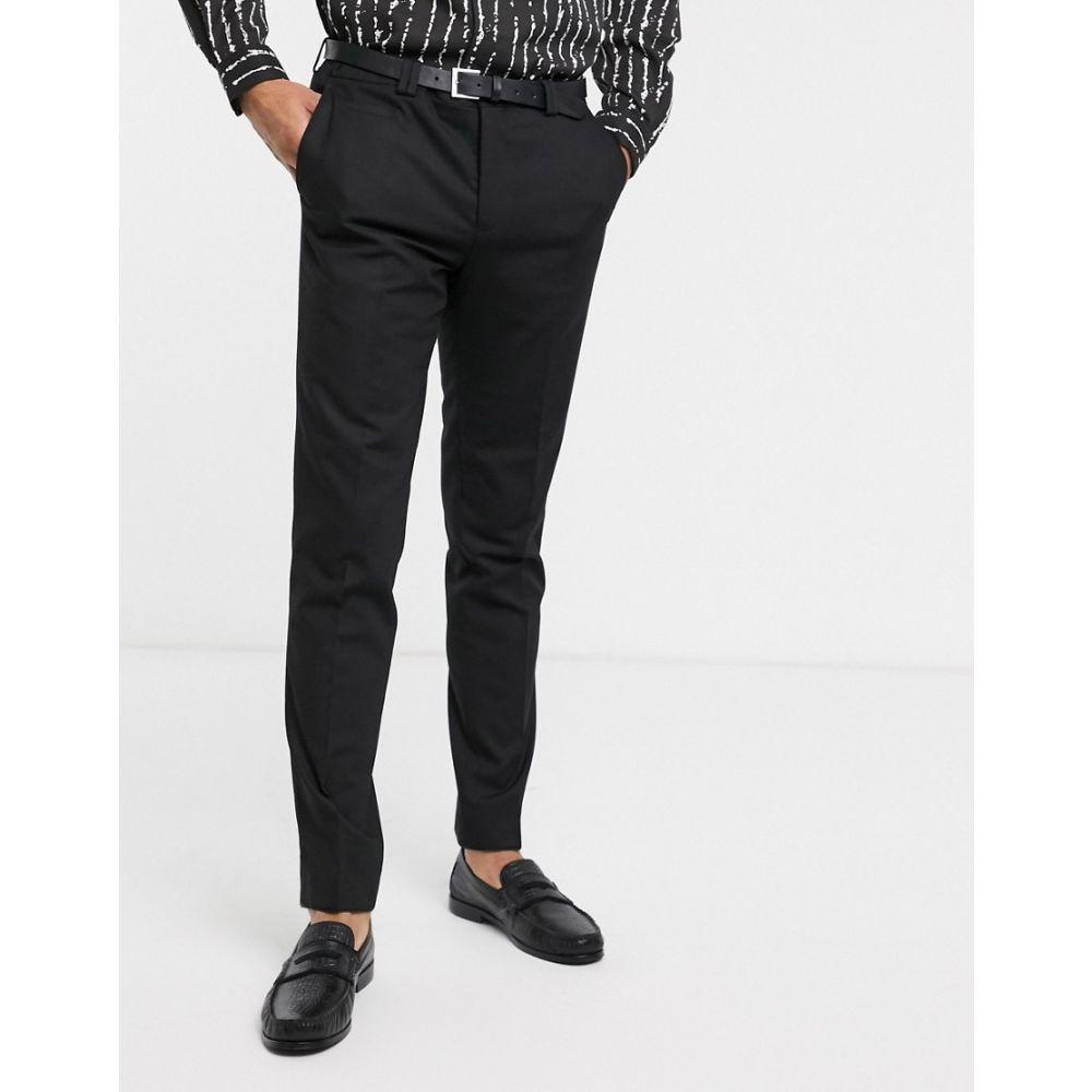 ヴィーゴ Viggo メンズ スラックス ボトムス・パンツ【suit trousers in black】Black