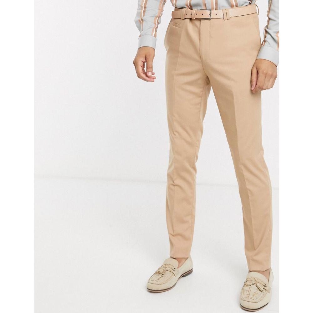 ヴィーゴ Viggo メンズ スラックス ボトムス・パンツ【recycled polyester suit trousers in tan】Tan