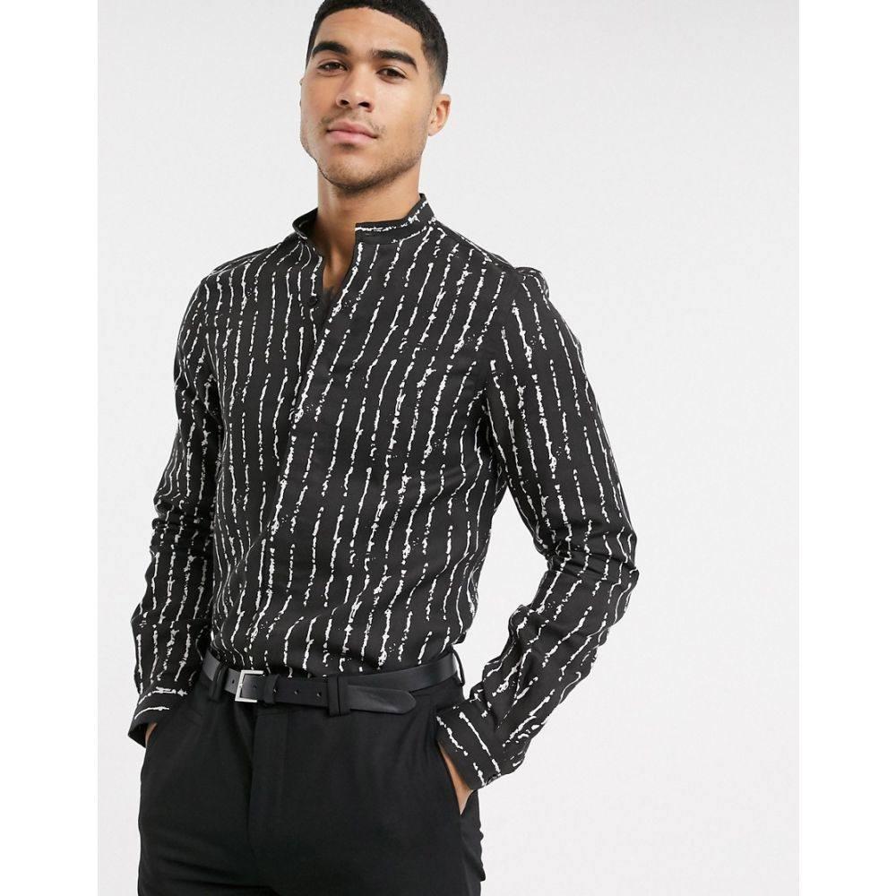 ヴィーゴ Viggo メンズ シャツ トップス【shirt with white inked stripe in black】Black