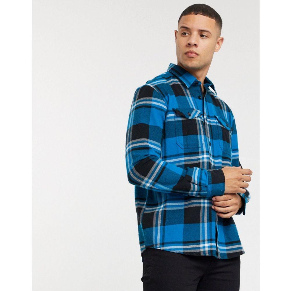 トムテイラー Tom Tailor メンズ シャツ フランネルシャツ トップス【flannel shirt in blue】Blue