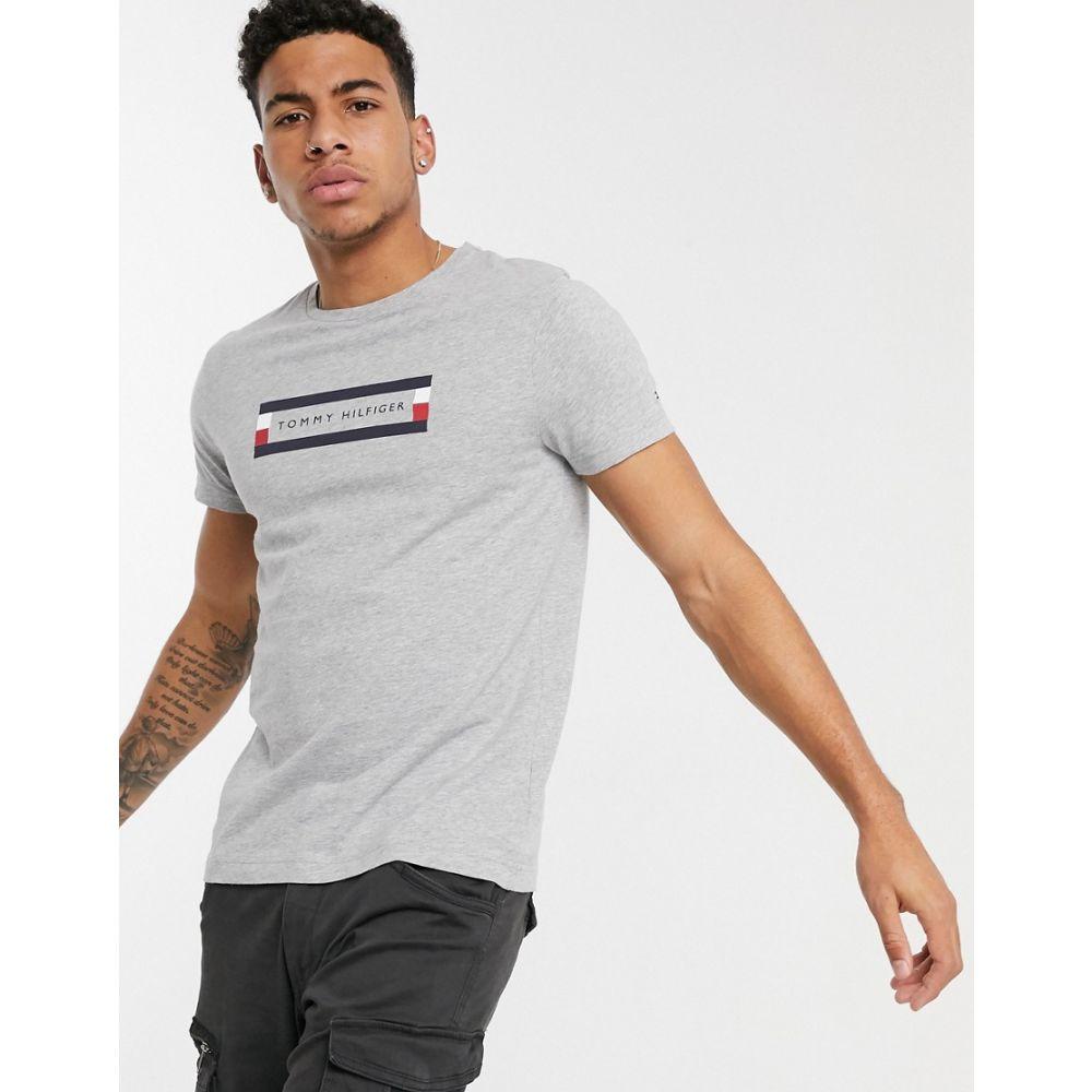 トミー ヒルフィガー Tommy Hilfiger メンズ Tシャツ トップス【corp box logo t-shirt in light grey】Cloud heather