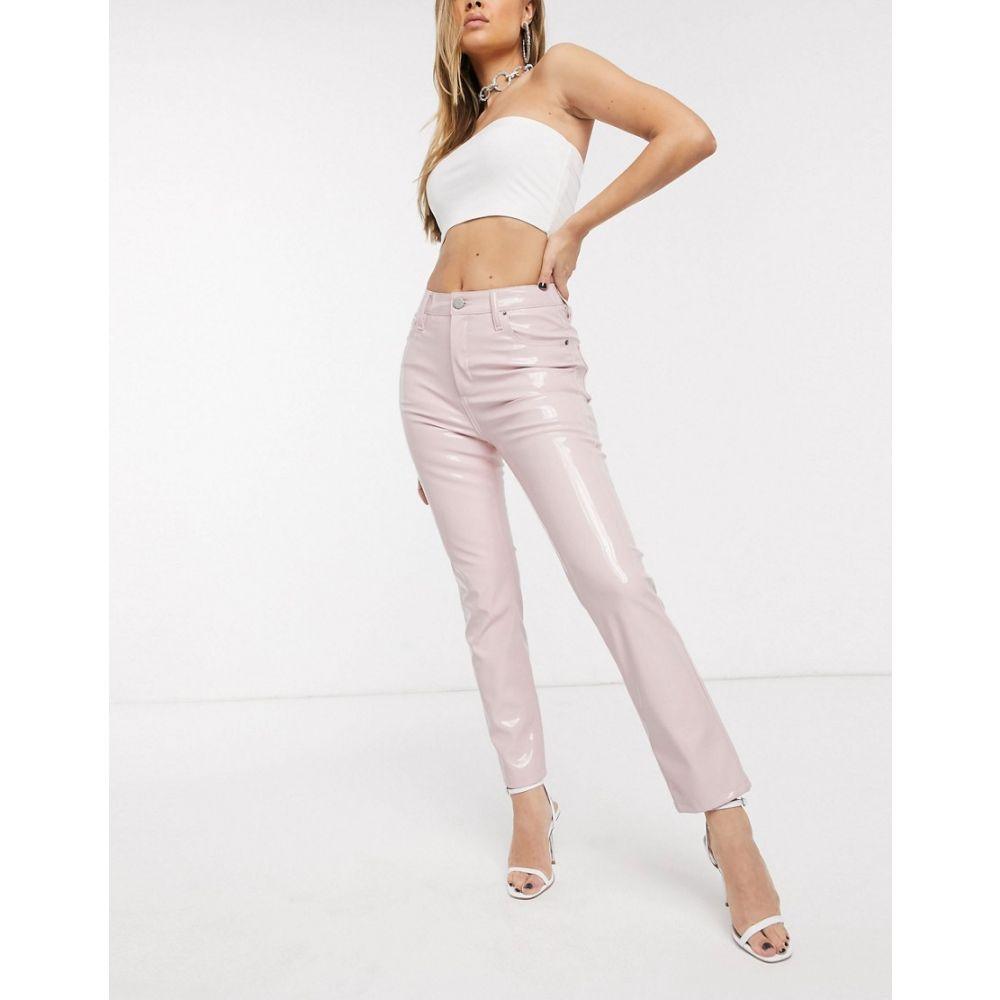 エイソス ASOS DESIGN レディース ジーンズ・デニム ボトムス・パンツ【Super high rise 'sassy' cigarette jeans in pink vinyl】Pink