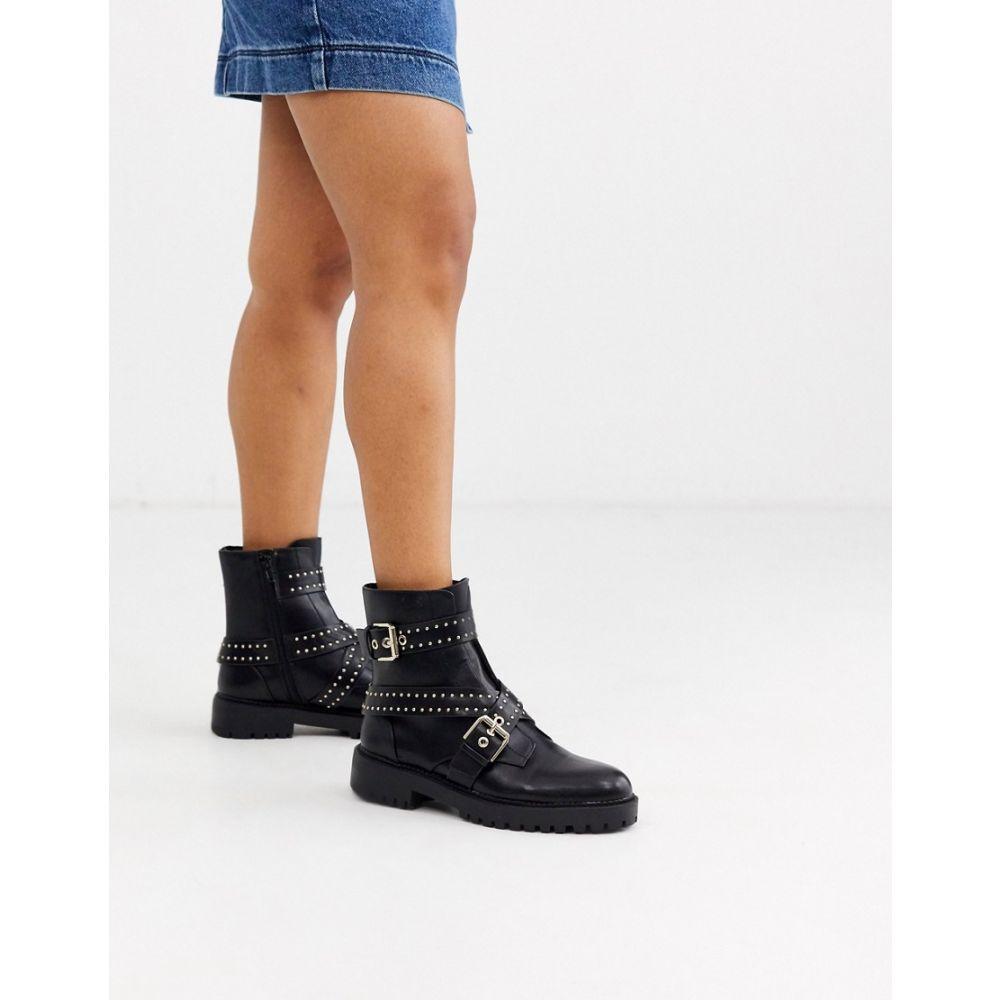 ピンキー Pimkie レディース ブーツ シューズ・靴【studded boots in black】Black