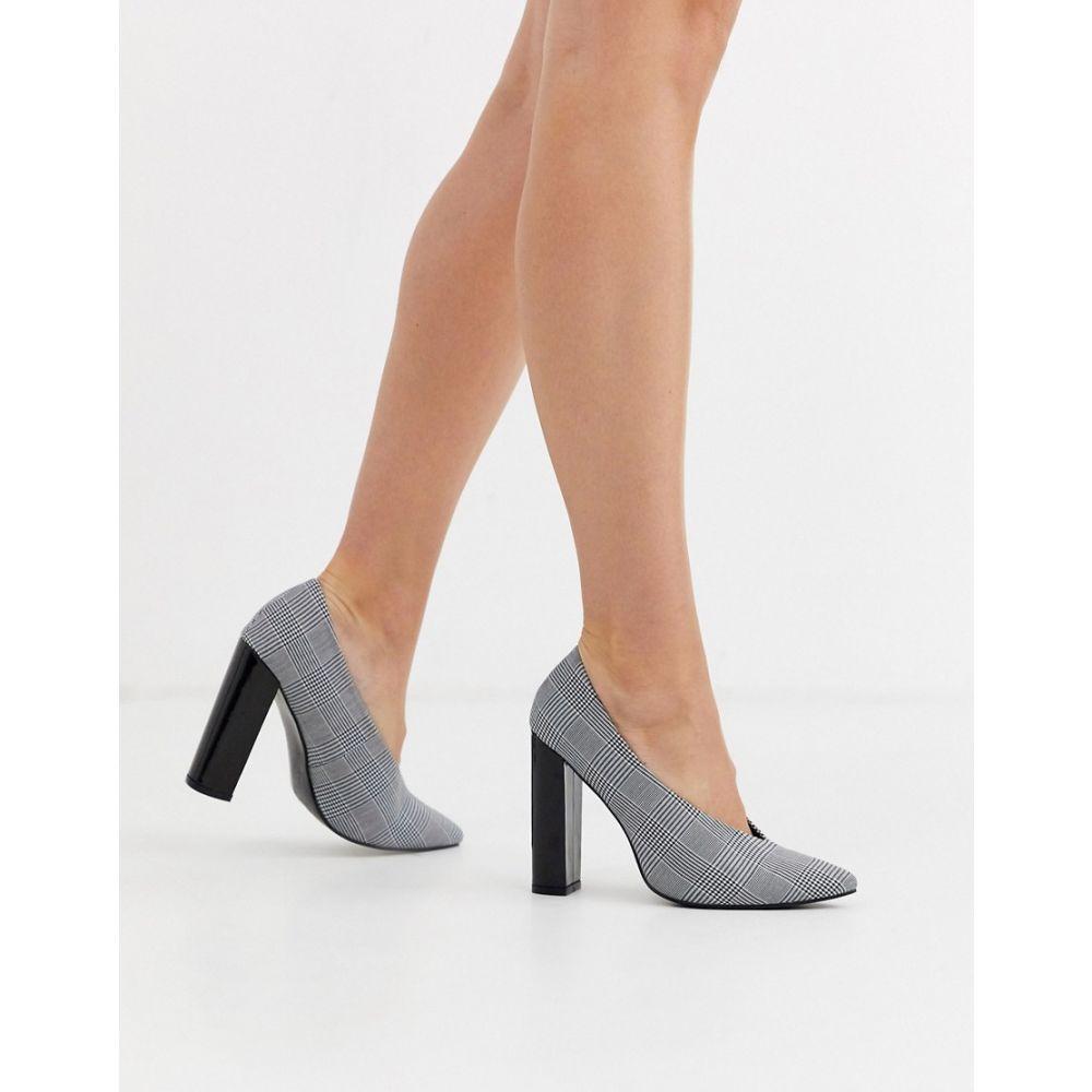 グラマラス Glamorous レディース ヒール シューズ・靴【pointed toe heels in check print】Check