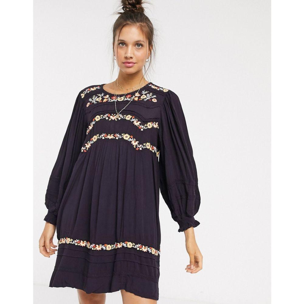 フリーピープル Free People レディース ワンピース ワンピース・ドレス【Pasadena embroidered dress】Plum