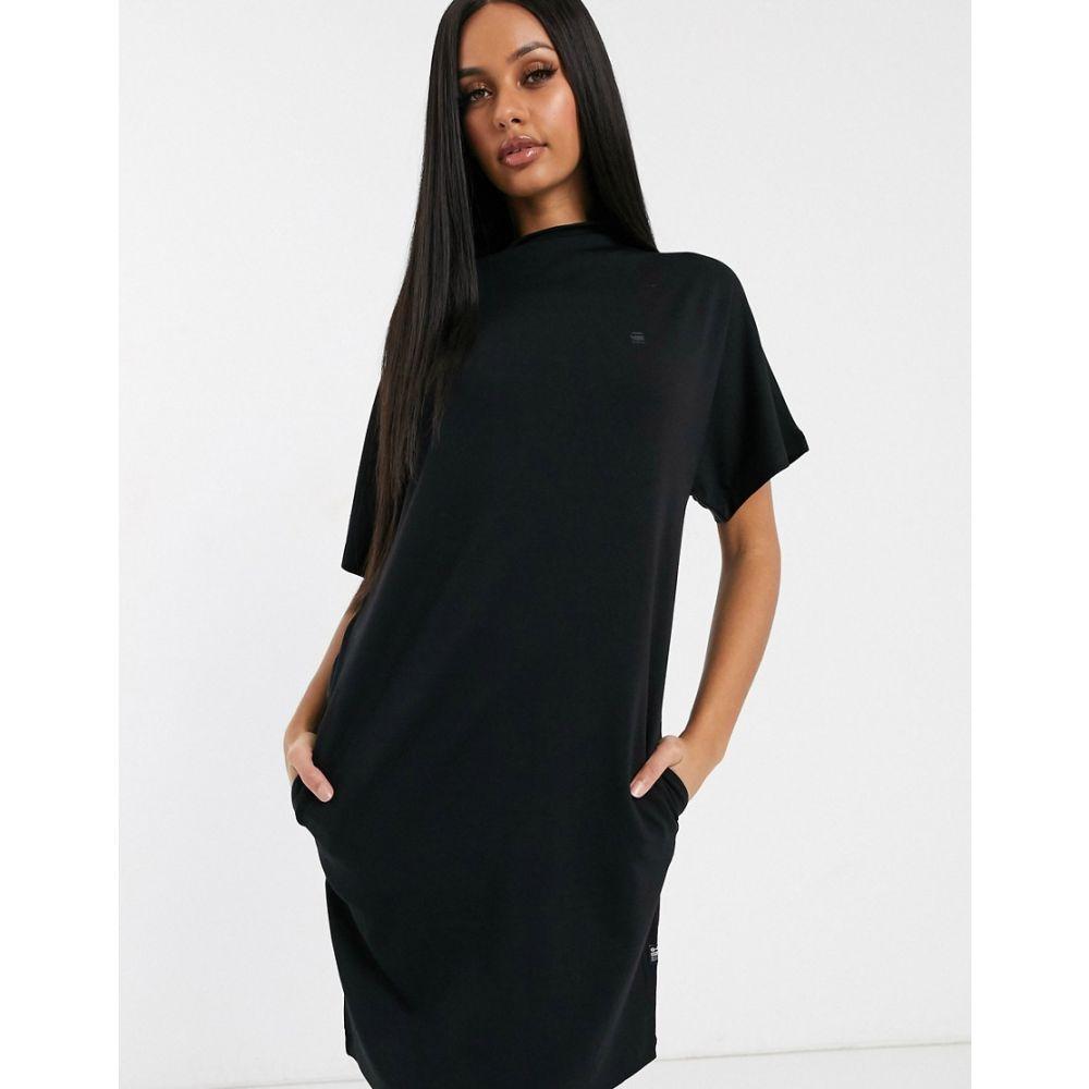 ジースター ロゥ G-Star レディース ワンピース ワンピース・ドレス【high neck dress with shoulder panel】Dk black