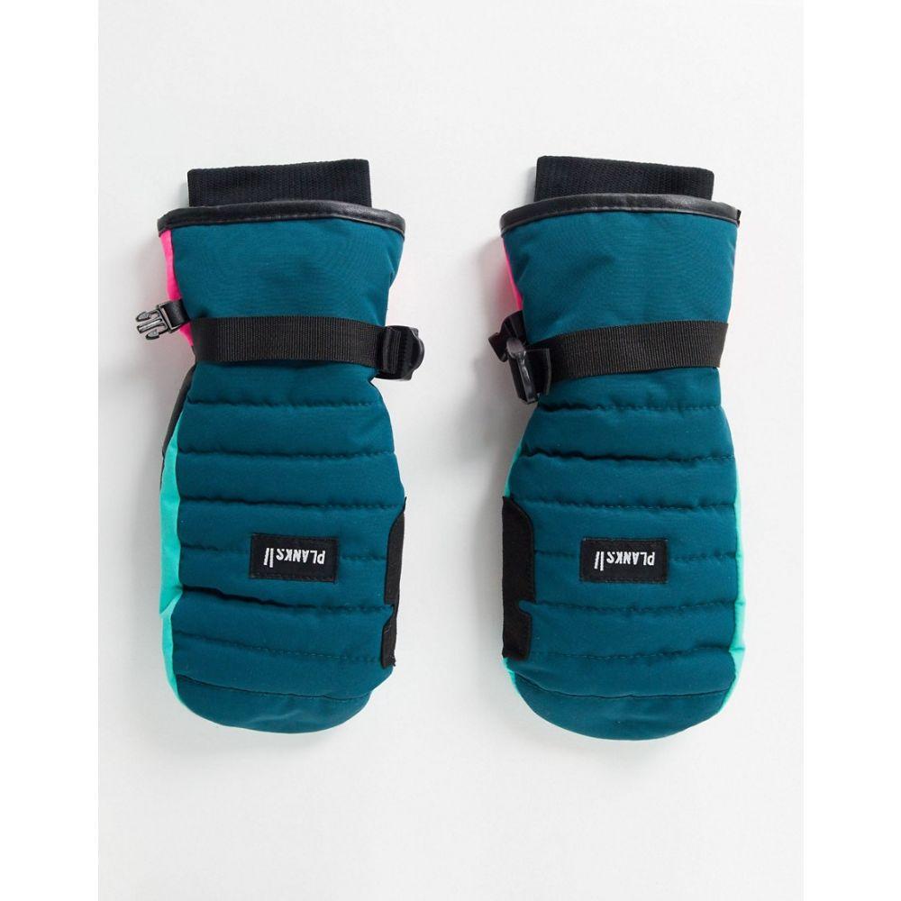 プランクス Planks レディース 手袋・グローブ ミトン【Bro-down Insulated mitten in blue】Peacock