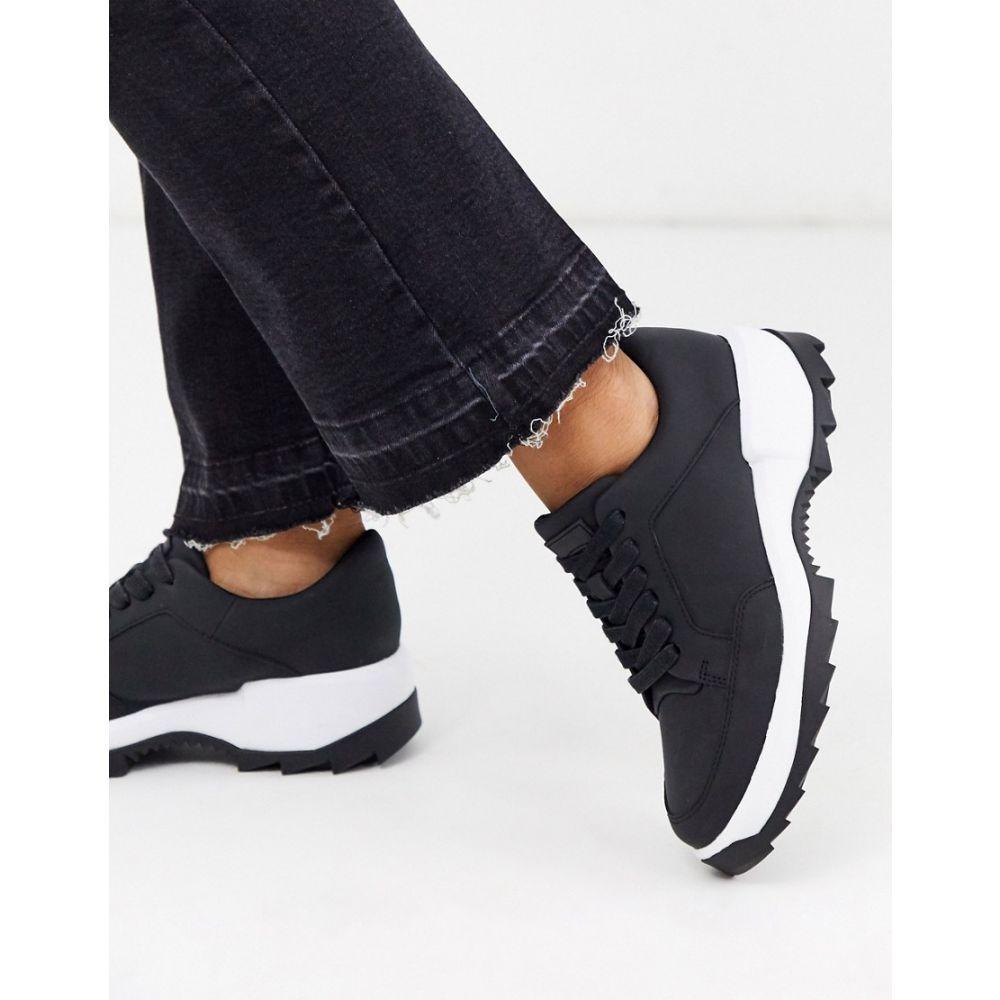 カンペール Camper レディース スニーカー チャンキーヒール シューズ・靴【Helix lace chunky sole trainers in black】Black