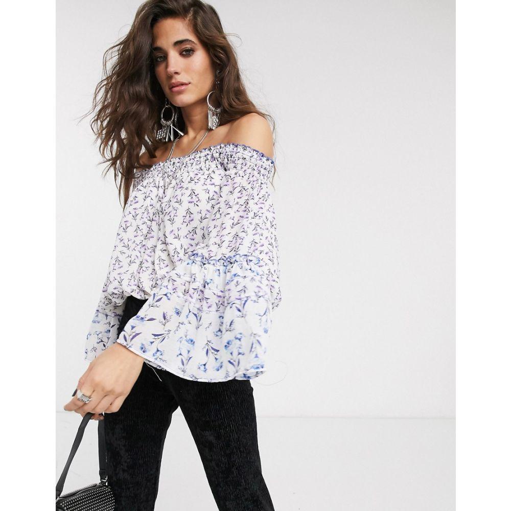 フリーピープル Free People レディース オフショルダー トップス【rose valley printed off shoulder blouse】Ivory