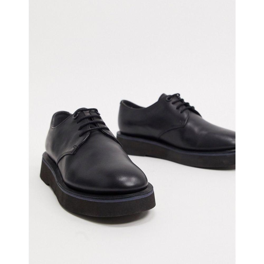 カンペール Camper レディース ローファー・オックスフォード メダリオン チャンキーヒール レースアップ シューズ・靴【chunky lace up brogues in black】Black