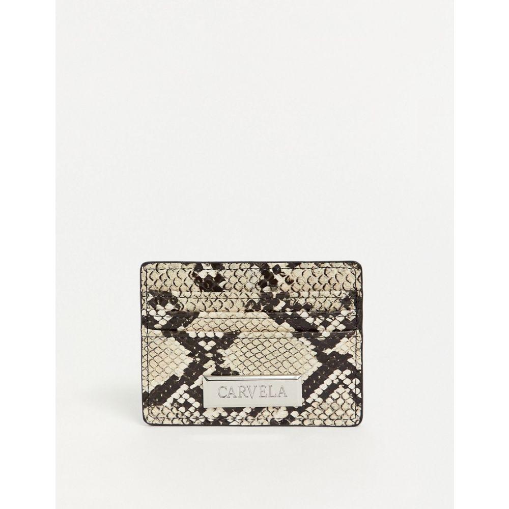 カーベラ Carvela レディース カードケース・名刺入れ カードホルダー【Shali card holder in snake skin】Camel/comb