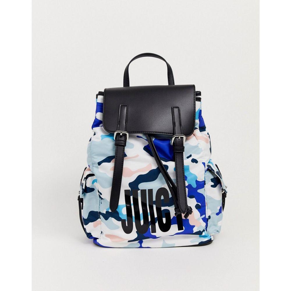 ジューシークチュール Juicy Couture レディース バックパック・リュック バッグ【Camo Rucksack】Blue/pale pink