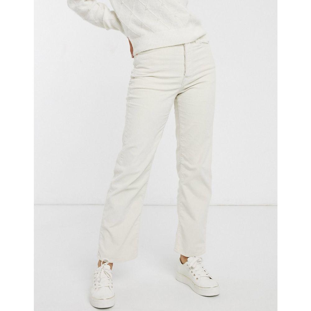 リーバイス Levi's レディース ジーンズ・デニム ボトムス・パンツ【Ribcage straight leg ankle grazer jeans in cream】Ecru wide wale